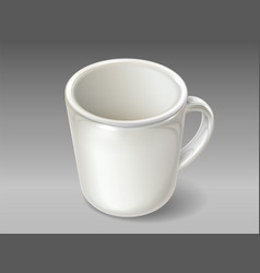 isolated porcelain cup for tea or coffee vector image