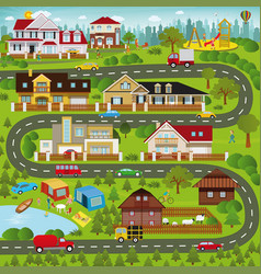 life in the suburbs - winter vector image