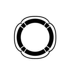 lifebuoy black icon sign on isolated vector image