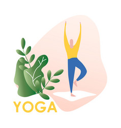 man doing office yoga vector image