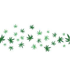 Marijuana seamless pattern on a white background vector