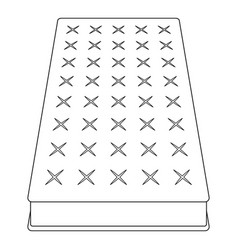 mattress icon outline style vector image