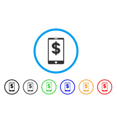 mobile balance rounded icon vector image