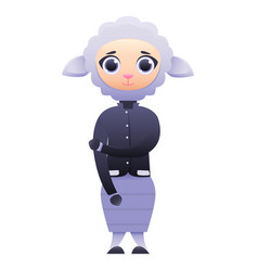 modern business woman sheep vector image
