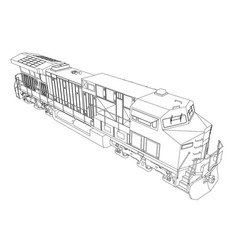 modern diesel railway locomotive with great power vector image