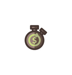 money template filled line icon isolated vector image