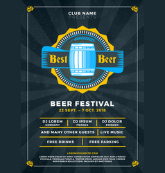 Oktoberfest beer festival celebration typography vector