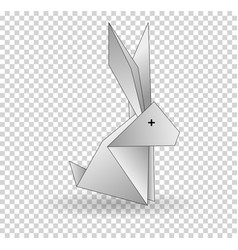 origamo rabbit white rabbit abstract isolated on vector image