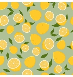 Pattern of lemons vector