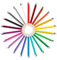 Pencils in a circle vector image