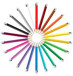Pencils in a circle vector image