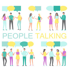 people talking and discussing something vector image