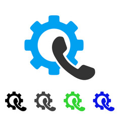 Phone configuration flat icon vector