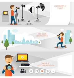 Photographer Photography Concept Banner vector