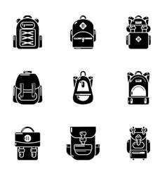Portfolio icons set simple style vector