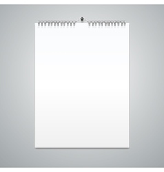 Realistic Calendar Template Blank vector image