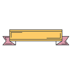 ribbon elegant frame icon vector image