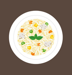 risotto vector image