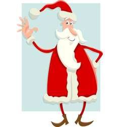 santa claus flat design cartoon vector image
