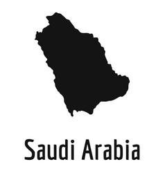 Saudi arabia map in black simple vector