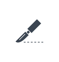 scalpel related glyph icon vector image