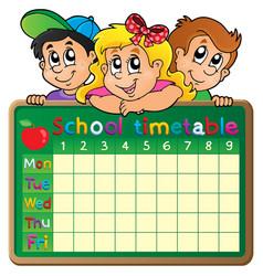 School timetable theme image 4 vector