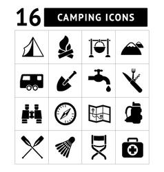 set icons camping vector image