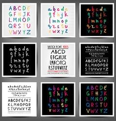 Set of handwritten English alphabets vector