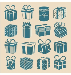 Silhouette gifts vector image