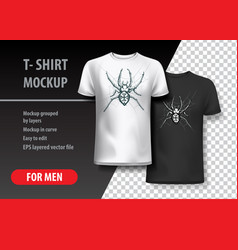 T-shirt template with hand drawn spydeer vector