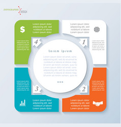 template infographic with four segments vector image