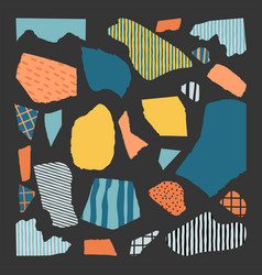 trendy abstract pieces vector image