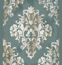 Vintage baroque style background luxury vector