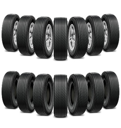 wedge tires vector image