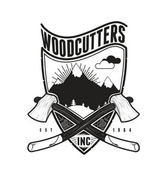Woodcutters vector