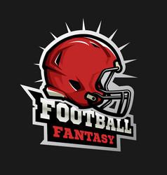 american football modern logo fantasy football vector image