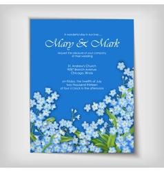 Floral decorative wedding or invitation design vector image