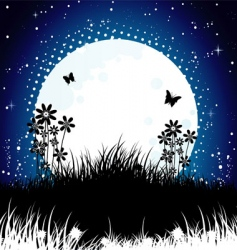 moon back vector image vector image