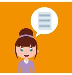 document education online design girl vector image