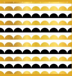 gold black stripes scallops stripes vector image