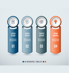 infographic concept of 4 vertical elements vector image vector image