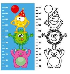 monsters meter wall vector image vector image