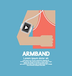 Runner Man Wearing Smartphone Armband vector image vector image