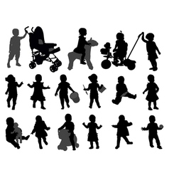 toddlers vector image vector image