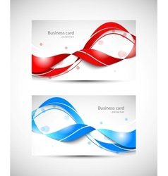 Two business cards vector image