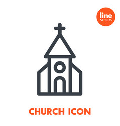 church line icon over white vector image vector image