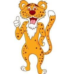 cute cheetah with thumb up vector image