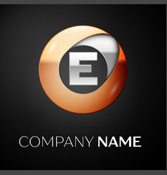 Letter e logo symbol in the colorful circle vector