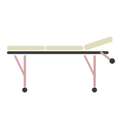 sign of medical trolley vector image