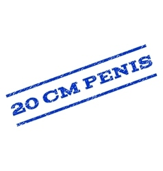 20 cm Penis Watermark Stamp vector
